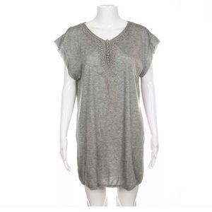 3.1 Phillip Lim shirt dress gray Small cap sleeve